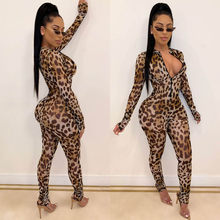 Kancoold overall Mode frauen Zipper Leopard Dünne Sexy Overall Streetwear fashion party neue frauen overall 2020Apr1(China)