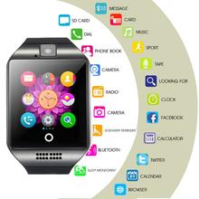Q18 inteligentny zegarek z kartą SIM karta kamery TF wiadomość Snyc SmartWatch Android Q18 DZ09 GT08 Smartwatch mężczyzna kobiet Smartwatch 2020 tanie tanio OUIO CN (pochodzenie) Android OS Na nadgarstku Wszystko kompatybilny 128 MB Passometer Uśpienia tracker Wiadomość przypomnienie
