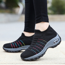 2020 women sneakers fashion casual shoes platform sneakers for women black breathable mesh sock sneakers Tenis Feminino crystal sneakers women sneakers with crystals women sock sneakers fashion sneakers women boots sneakers women wk85