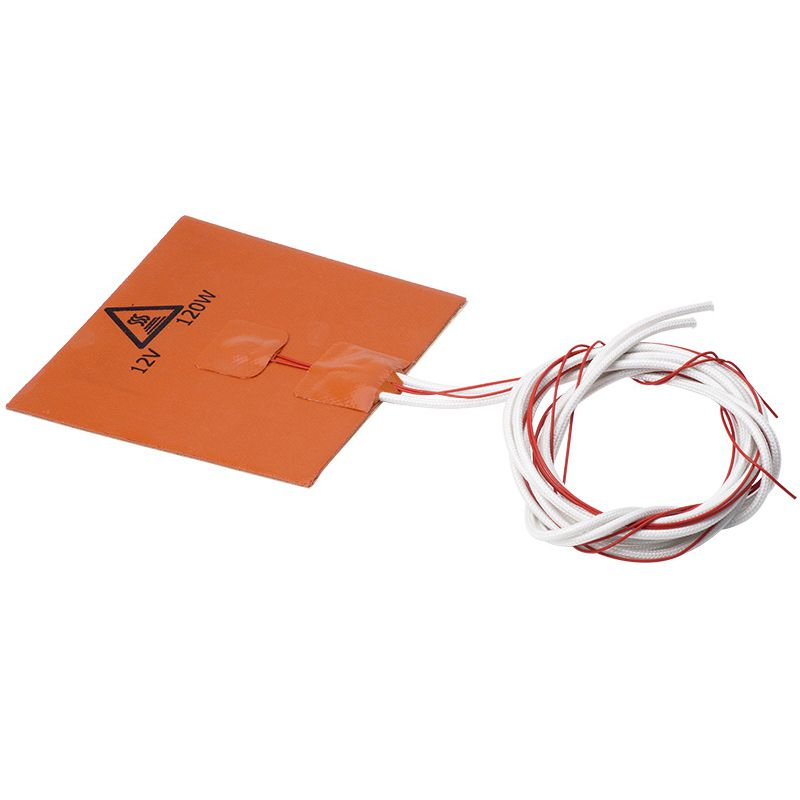 Image 2 - 120x120mm 12V 120W Silicone Heater Pad 3D Printer Heated Bed Heating Mat-in 3D Printer Parts & Accessories from Computer & Office
