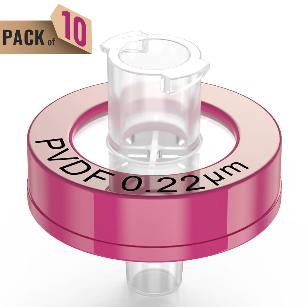 Syringe Filters,PVDF Membrane 0.22μm Pore Size,13mm Diameter,10 Pcs Individually Packed By Ks-Tek