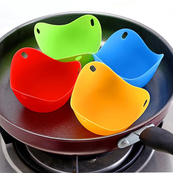 4pc Egg Poachers Silicone Egg Cooker Kitchen Tools Pancake Cookware Bakeware Steam Eggs Plate Tray Healthy Egg Pancake