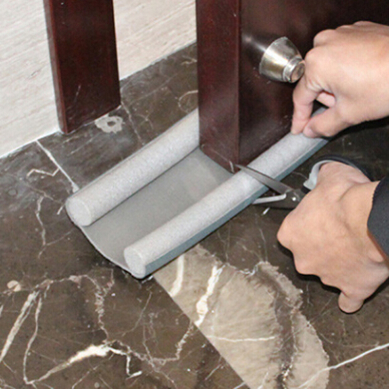 95cm Flexible Door Bottom Sealing Strip Guard Wind Dust Blocker Sealer Stopper Twin Door Decor Protector Doorstop Draft