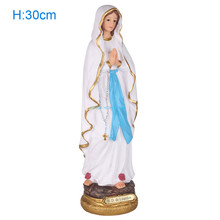 30cm Madonna Blessed Saint Virgin Mary Statues Our Lady of Lourds Holy Sculptures Figure Christ Tabletop Statue Figurine