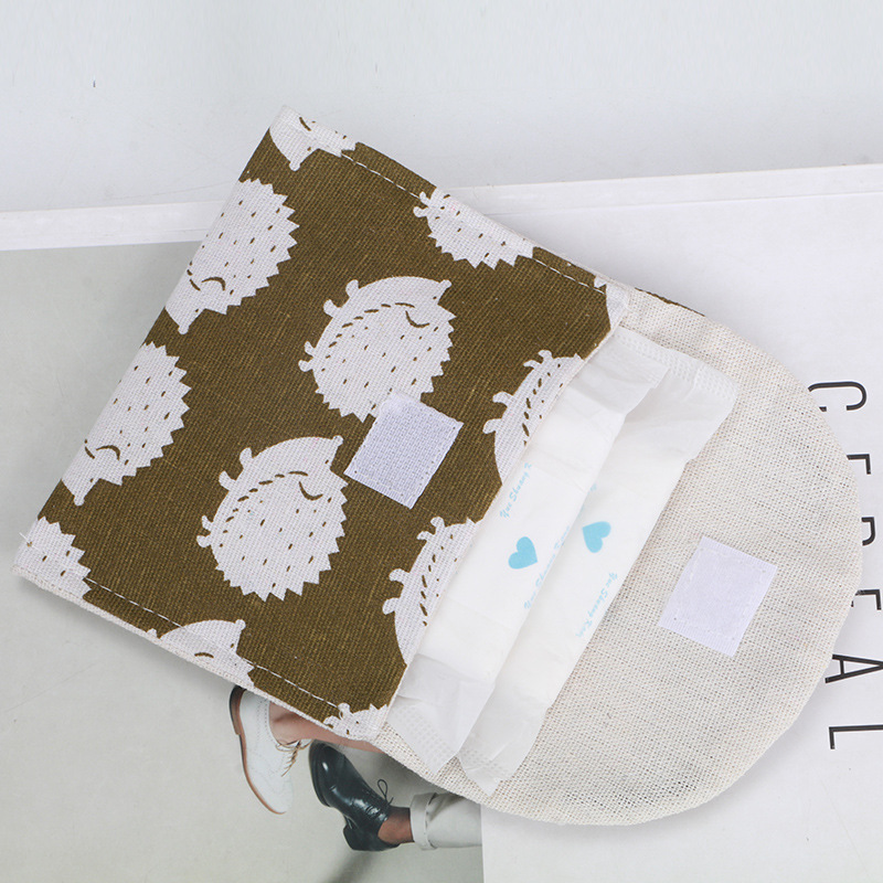 Girls Receive Sanitary Napkin Bag Of Cotton And Linen Sanitary Napkin Bag Zero Wallet Receive Jewelry Box Card Bag Box