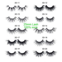 25mm False Eyelashes Natural Wholesale Thick Strip 25 mm 3D Mink Lashes Custom Packaging Label Makeup Dramatic Long Wispy Fake
