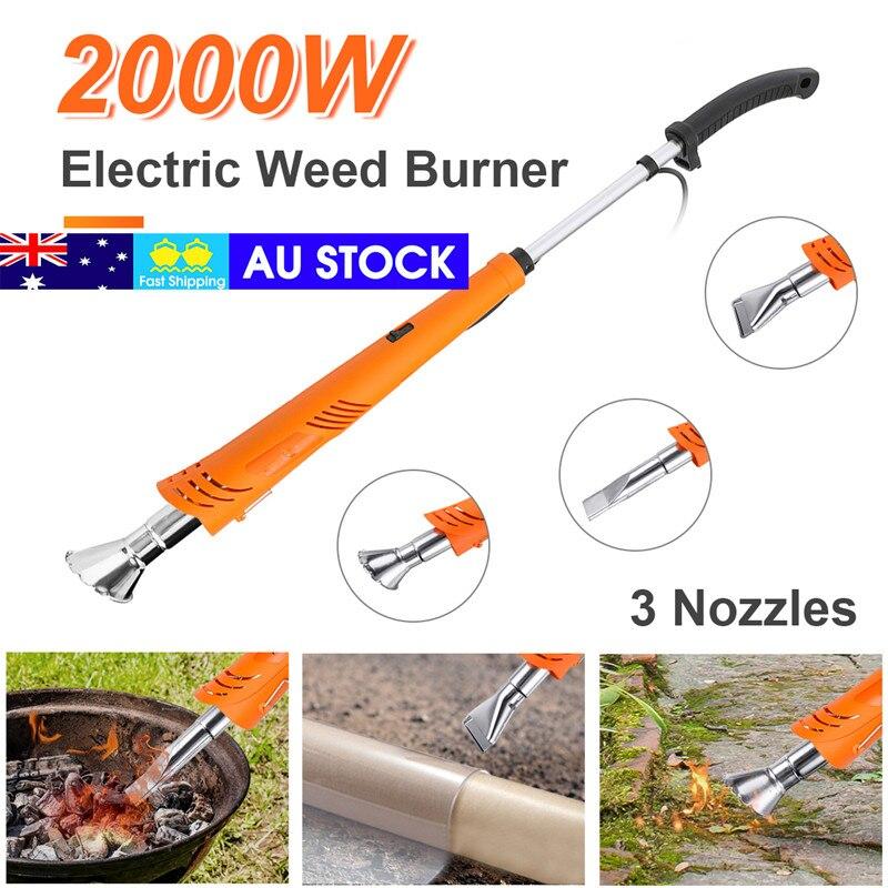 2000W Electric Hot Air Lawnmower Weeder Grass Flamethrower Thermal Weeder Burner Professional Weeding Garden Tools