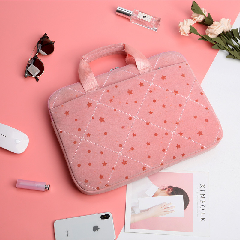 Women Handbag Laptophoes 14 Inch Star Printing Laptop Bag For MacBook Apple Notebook IPad Business One Shoulder Laptoptas Buying image