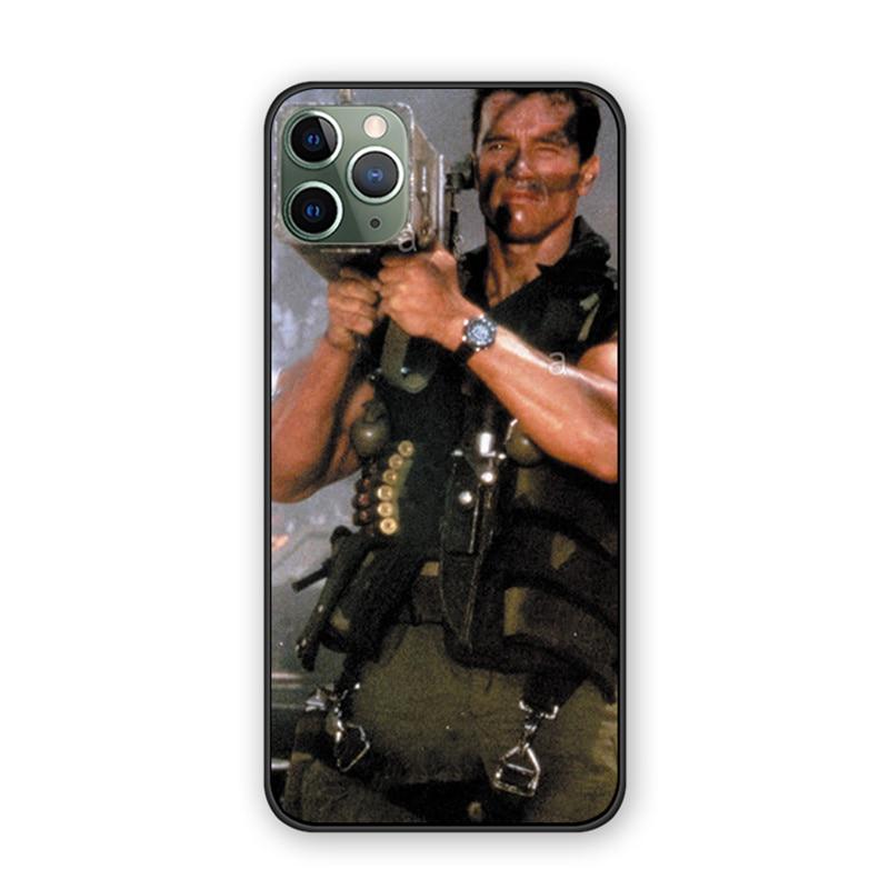 Arnold Schwarzenegger Film Commando 1985 poster back cover silicone TPU phone case For iphone 11 12 mini pro proMax case shell