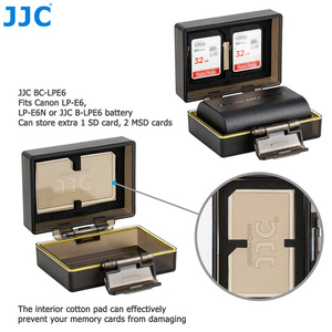 Image 4 - JJC Camera Battery Holder Case Bag for Canon LP E6 LP E6N LP E17 Sony NP FW50 Fujifilm NP W126 Case SD MSD TF Card Storage Box