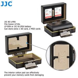 Image 4 - Sacchetto della cassa del supporto della batteria della macchina fotografica di JJC per la LP E6 di Canon LP E6N LP E17 scatola di immagazzinaggio della carta di memoria standard MSD TF di Sony NP FW50 Fujifilm