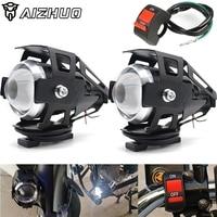 Universal 12 v motocicleta de metal farol condução ponto cabeça da lâmpada luz nevoeiro para suzuki gsr 750 gw250 gsxr 600 750 1000 1300 c50|  -