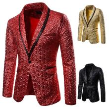Men Coat 2019 Blazer Sequin Stage Performer Formal Host Suit Bridegroom Tuxedos Star Clothes