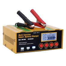 NEW-Car Battery Charger 12A 12V/24V Automatic Smart Charger for Lithium Batteries AGM/Lead-Acid Batteries
