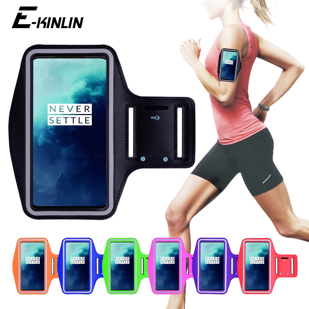 Running Jogging Gym Sports holder Bag Cover Arm Band Phone Case For One Plus <font><b>OnePlus</b></font> 7T 7 Pro 5G 6T 6 5T 5 3 3T 2 1 X <font><b>A6000</b></font> image