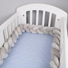 1 м/2 м/3 м/4 м длина нордический узел новорожденный бампер Узелок длинная завязанная коса Подушка Bebe детская кровать бампер в кроватку Детская комната Декор
