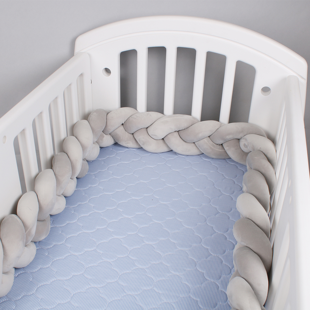 1M/2M Length Nordic Knot Newborn Bumper Knot Long Knotted Braid Pillow Bebe Baby Bed Bumper In The Crib Infant Room Decor