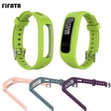 Fifata silicone pulseira de relógio esporte para huawei bnad 3e/4e huawei honra banda 4 versão running pulseira inteligente substituição