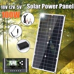 Zonnepaneel 100 W 18V 12V Lichtgewicht Zonnepaneel Mono Kristallijne Cellen Solar Battery Charger Met '10/20/30A Controller
