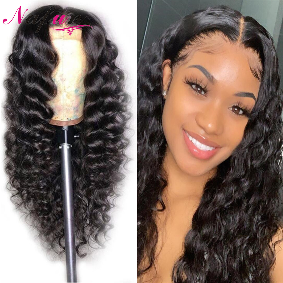 Deep Wave Lace Front Wigs Transparent Lace Wigs 30 Inch 13x4 Lace Wig Brazilian Remy Hair Pre Plucked Lace Front Wigs For Women