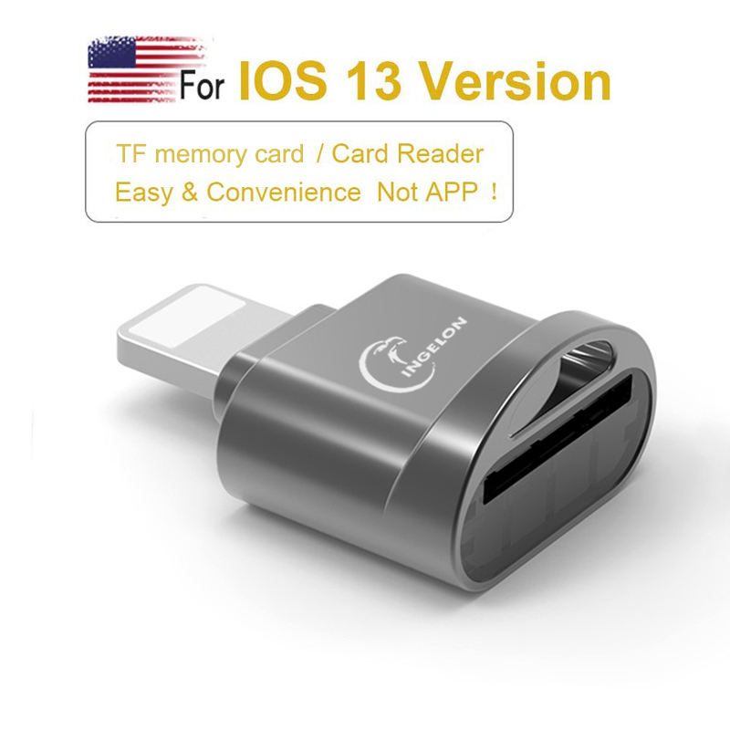 Suitable For Apple OTG Adapter Lightning Mobile Phone Tablet To TF / Micro SD Card 3.0 Metal Mini Card Reader Iphone 7 8 Adapter