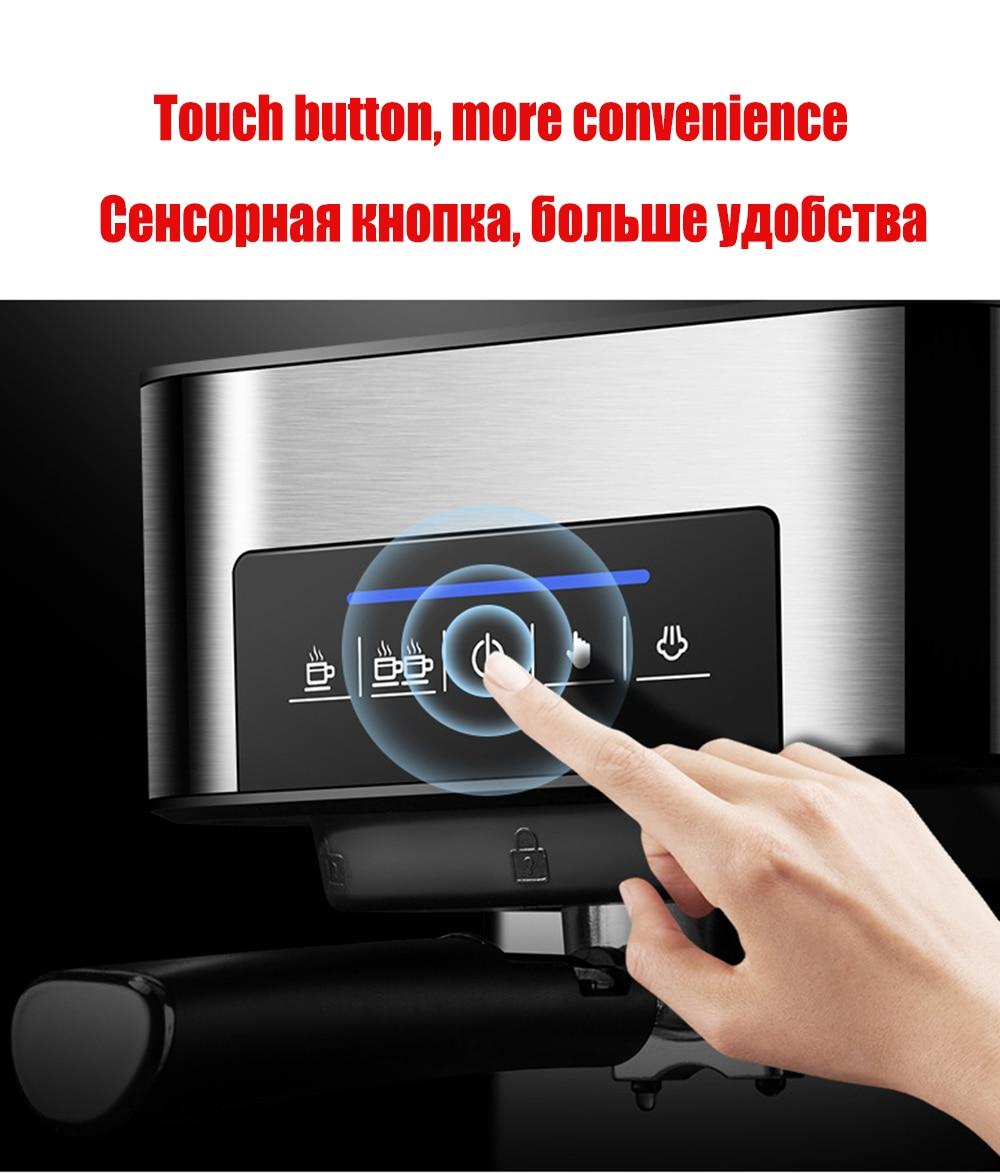1350W/20Bar/1.6L Italian Coffee Machine Electric Semi-automatic Coffee Maker High Pressure Extraction/Double Temperature Control 3