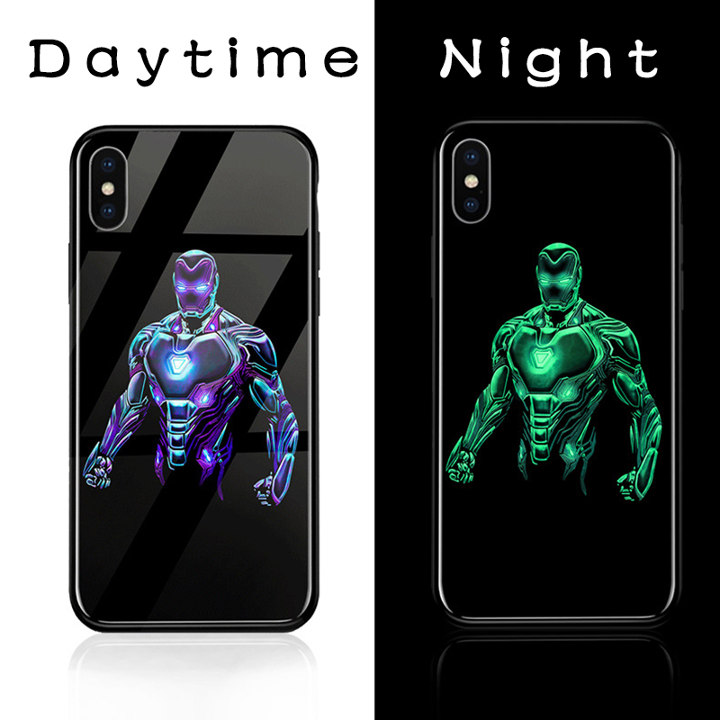 ciciber Marvel Glass Phone <font><b>Cases</b></font> For <font><b>iphone</b></font> 11 Pro Max <font><b>6</b></font> 6S 7 8 Plus X XR XS MAX Phone <font><b>Case</b></font> Back Cover Avengers Iron Man Fundas image