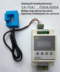 DC Digital Ammeter Current Detection Hall Sensor Upper and Lower Limit Delay Relay Alarm