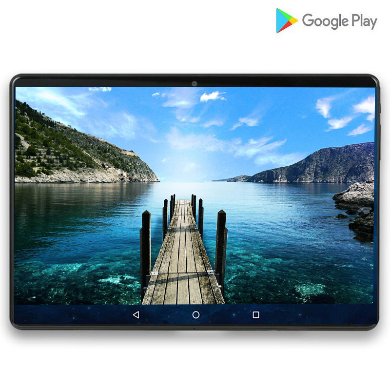 Super Tablet 128G Global Bluetooth Wifi Version Android 9.0 10 Inch Tablet Octa Core 6GB RAM 64GB 128GB ROM 2.5D Screen Tablets