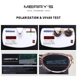 Image 5 - MERRYS تصميم النساء الفاخرة العلامة التجارية القط العين النظارات الشمسية السيدات موضة نظارات شمسية مستقطبة UV400 حماية S6139