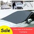 210*120 см автомобильный Магнитный солнцезащитный чехол для лобового стекла автомобиля  Солнцезащитный водонепроницаемый защитный чехол для ...