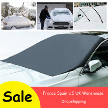 210*120cm Automobile Magnetic Sunshade Cover Car Windshield Snow Sun Shade Waterproof Protector Cover Car Front Windscreen Cover(China)