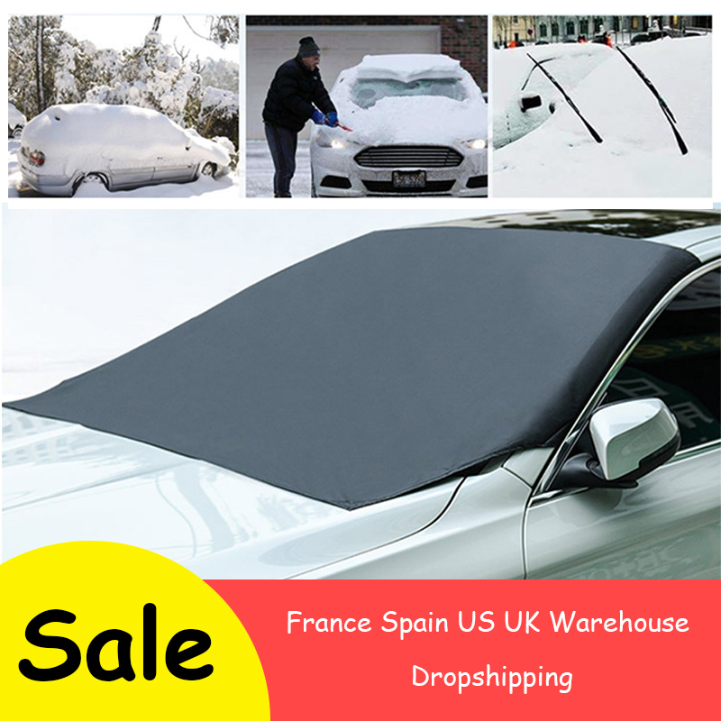 210*120cm Automobile Magnetic Sunshade Cover Car Windshield Snow Sun Shade Waterproof Protector Cover Car Front Windscreen Cover image