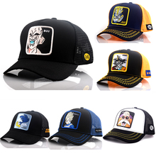2019 New Summer Cartoon Dragon Ball Z Mesh Baseball Caps Snapback Anime Embroidery for Women Men Outdoor Truck Driver Dad Hat