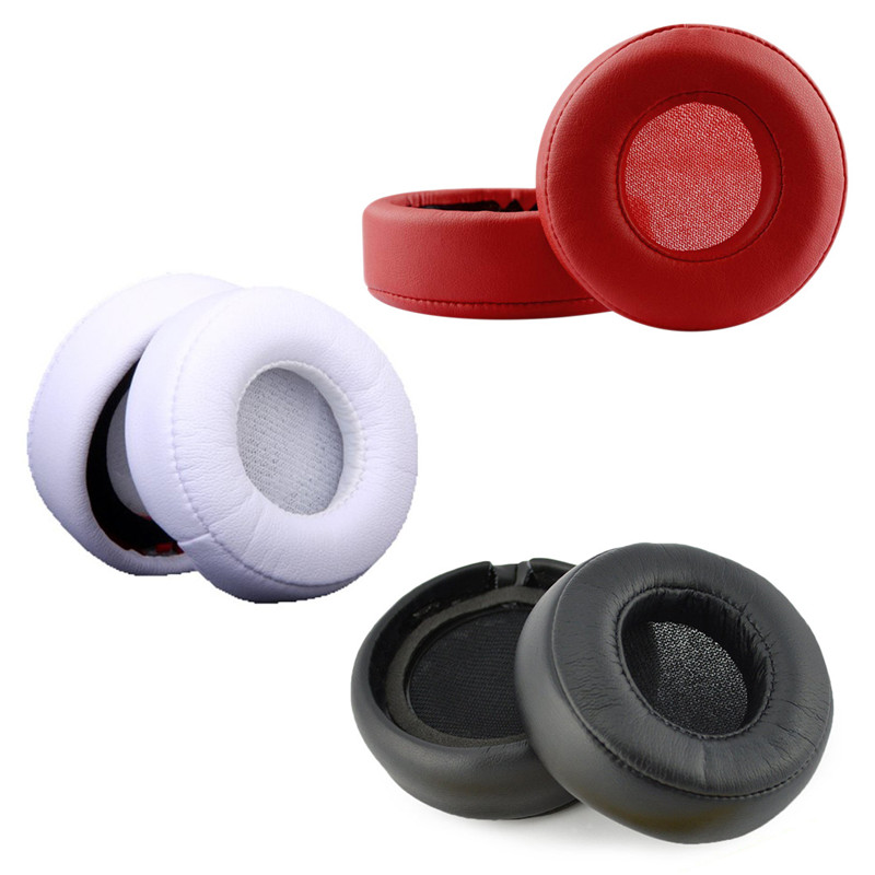 1Pcs Earphone Earpads Ear Cushion Headset Earmuffs Leather Headphone Covers NY