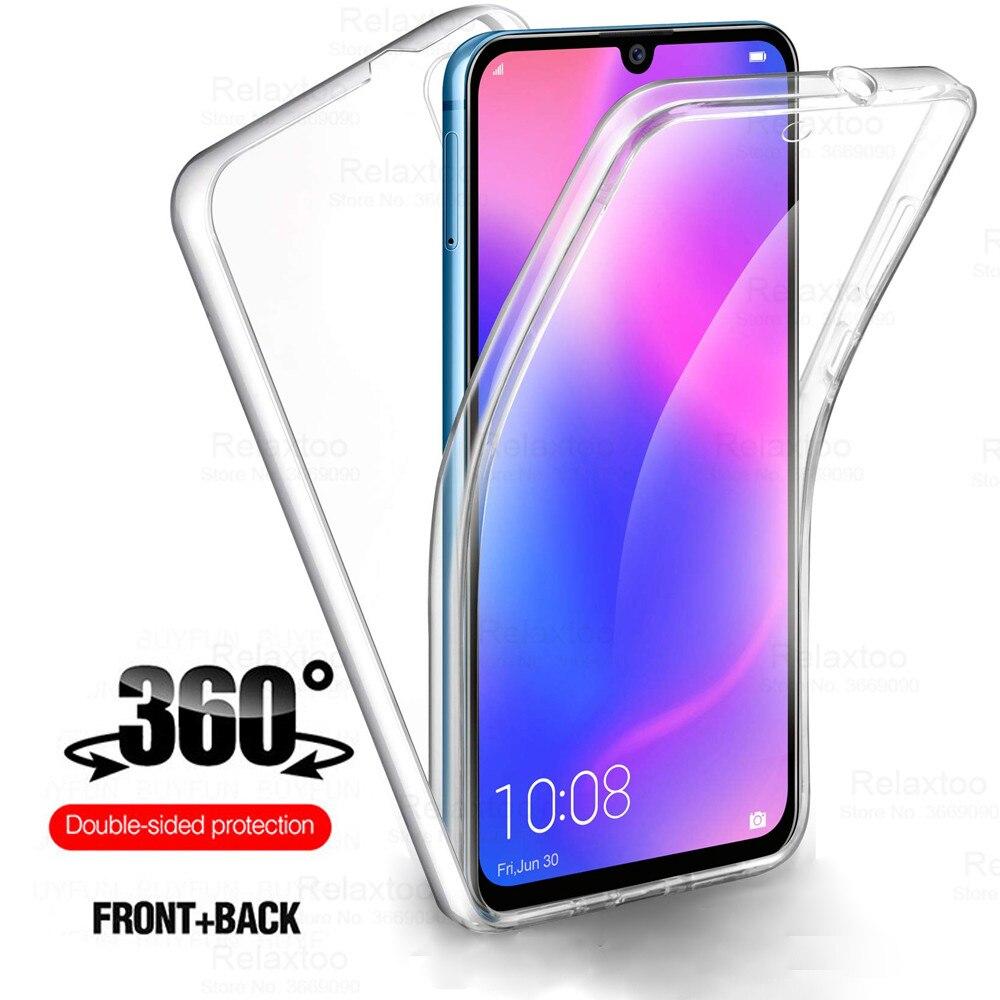 360 çift silikon kılıf için Huawei onur 9x20 lite 9c 8a 10 i 20 hafif onur 10i PC + TPU tam vücut kapak onur xoner huawei