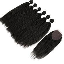 Афро кудрявые прямые волосы для черных женщин плетение 6 пучков