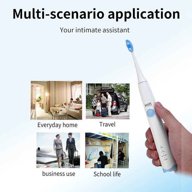 VGR Electric Toothbrush V-801 Waterproof Automatic Sonic ToothBrush Models with 2 Brush Heads