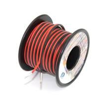 Linha de fio paralela 18m do condutor do fio bonde 2 do silicone 16 awg [preto 9m vermelho 9 m] conecte o cobre estanhado do oxigênio