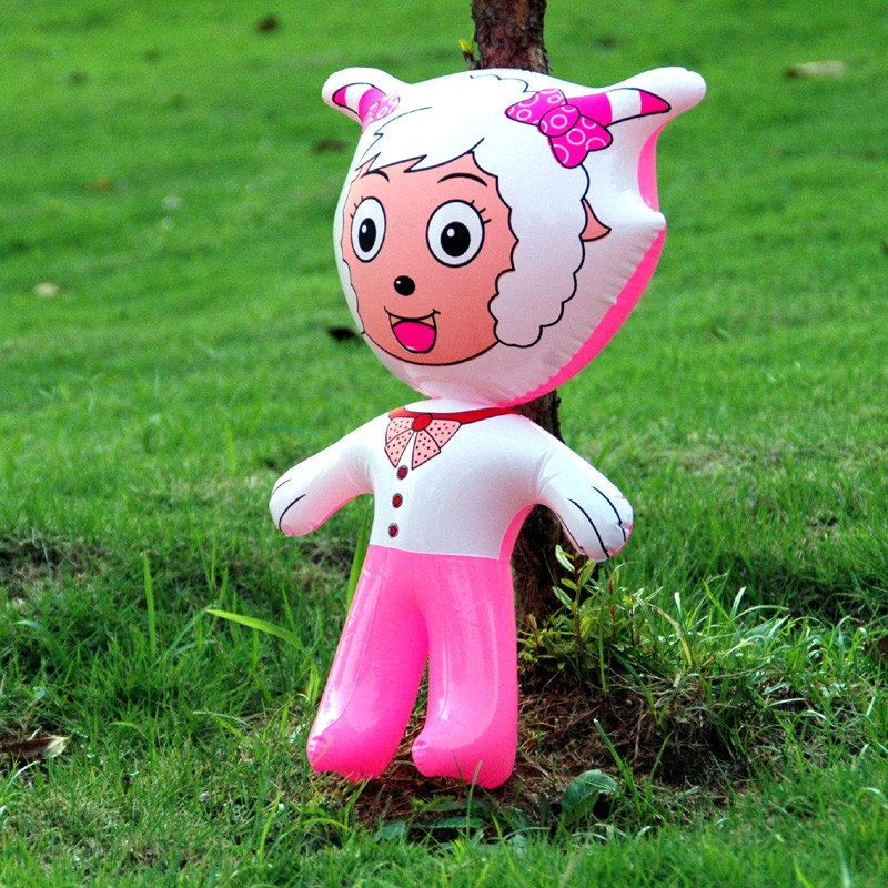 Inflatable Animal Inflatables Cute Lovely Animals Shape Stand Pleasant Goat Inflatable Cartoon Toy Pvc Animal Toys For Child