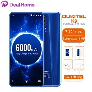 "Image 1 - Oukitel K9 7.12 ""אנדרואיד 9.0 MTK6757 אוקטה Core 2.3GHz Smartphone טביעות אצבע 6000mAh 1080*2244 16MP + 2MP/8MP הסלולר"