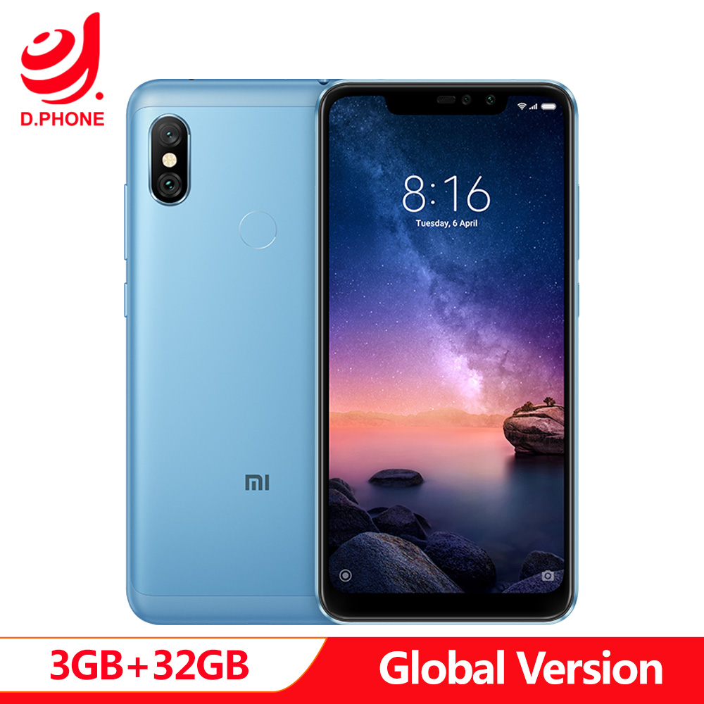 Global Version Xiaomi Redmi Note 6 Pro Mobile Phone 3GB 32GB Snapdragon 636 Octa Core 6.26