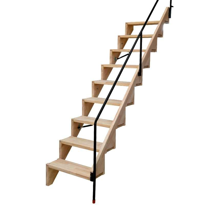 10 Ladders Pack Foldable Stair With Handrail For Small Apartment   Oak Wall Mounted Handrail   Oak Stair   Mopstick   Return   Handrail Bracket   Contemporary