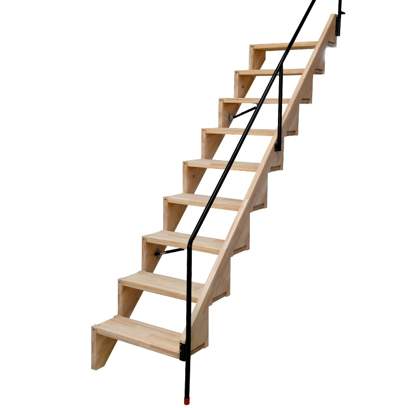 10 Ladders Pack, Foldable Stair With Handrail For Small Apartment / Made Of Oak Wood