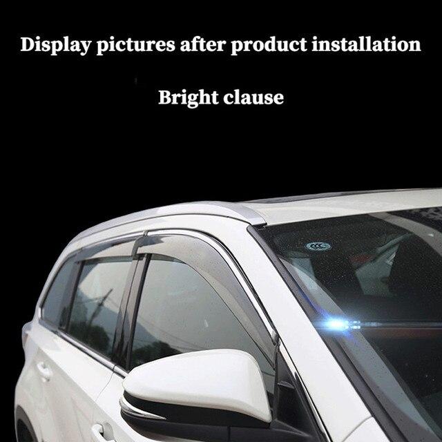 Фото погода щит для toyota highlander 2015 2020 окна автомобиля дефлекторы цена