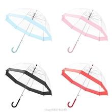 Transparent Umbrella Girls Boys Apollo Cartoon Dolphin Children Umbrella Semi-Automatic Rain Umbrellas For Kids O15 20 Dropship