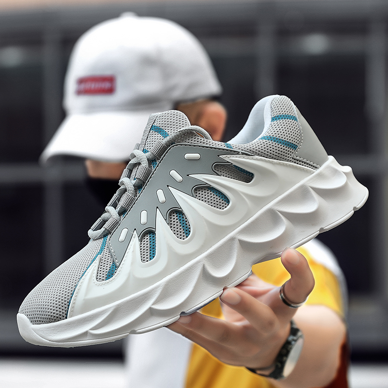 Men Vulcanized Shoes Chunky Sneakers Lace-up Volcanic Bottom Men Casual Shoes Platform Shoes Sneakers Male Shoes Adult Footwear