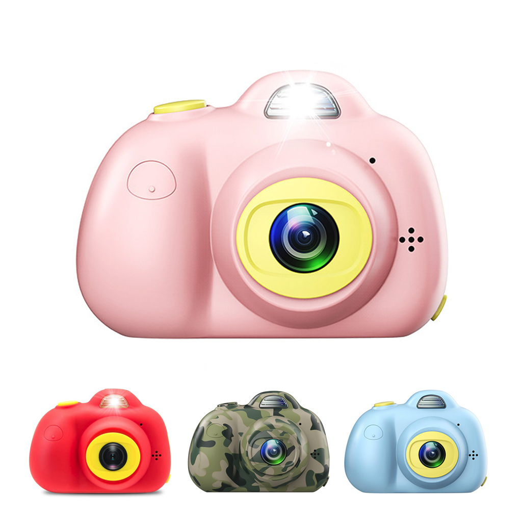 2 pouces jouet HD caméra numérique pour enfants dessin animé mignon enfants ABS Mini caméra jouets avec carte mémoire 16GB