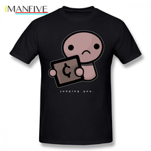 The Binding Of Isaac T Shirt Judging You Dark Background T-Shirt Oversized Streetwear Tee Funny Graphic Male Tshirt