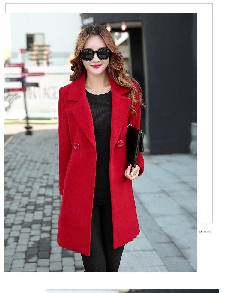 YICIYA Winter autumn Coat Women Wool Jacket Long Oversized Coats Plus Size Large Black Blend Woolen Warm Outerwear 2019 Clothing 28